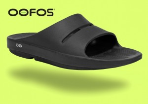Oofos Slider Black